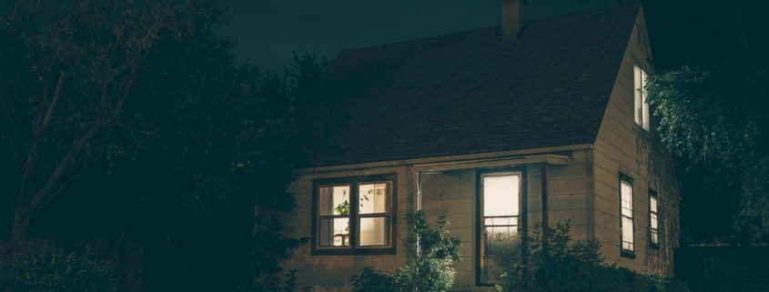 Eery Home at Night