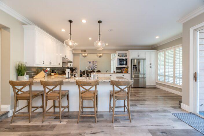 modern kitchen in smart home